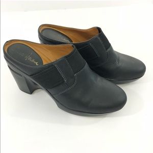 Cole Haan | Black Heeled Clogs Size 5